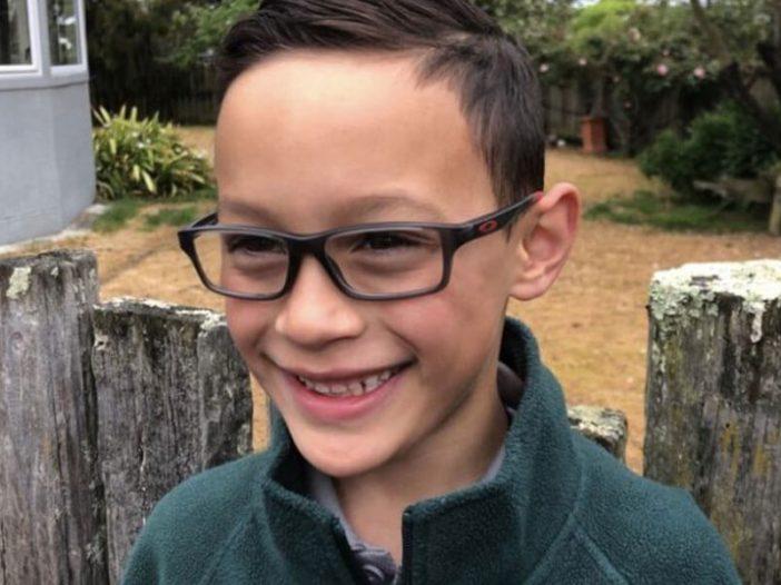 Harlen wearing his new glasses